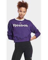 Reebok Linear Logo Crew Sweatshirt - Purple