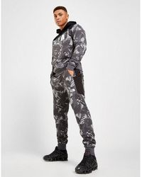 The North Face Fleece All Over Print Camo Track Pants - Black