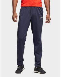 adidas Originals Essentials 3-stripes Tapered Open Hem Sweatpants - Blue