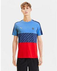 PUMA BMW Motorsport T7 T-Shirt Herren - Blau
