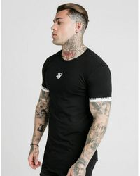 SIKSILK Logo Tech Tape T-shirt - Black