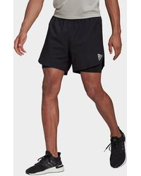 adidas Fast 2-in-1 Primeblue Shorts - Black