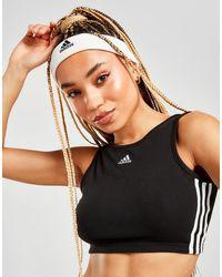 adidas 3-stripes Badge Of Sport Rib Tank Top - Black