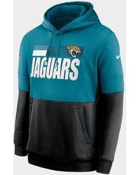 Nike Nfl Jacksonville Jaguars Sideline Hoodie - Blue
