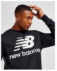 New Balance Core Sweatshirt Herren - Schwarz