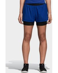 adidas - Two-in-one 3-stripes Shorts - Lyst