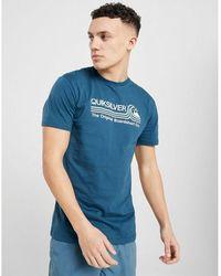 Quiksilver Stripe Wave T-shirt - Blue