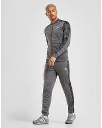 la moitié b5ecc fb215 Pantalon de Survêtement 3-Stripes Poly Homme - Gris