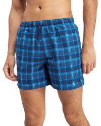 adidas Originals - 3-stripes Check Swimshorts - Lyst