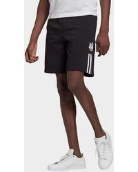 adidas Originals Adicolor 3d Trefoil 3-stripes Sweat Shorts - Black
