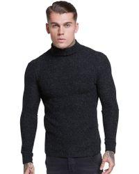 SIKSILK - Roll Neck Knitted Jumper - Lyst