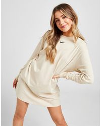 Nike Essential Long Sleeve Dress - Natural