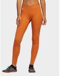 adidas Originals Alphaskin Sport Long Leggings - Orange
