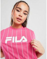 Fila Stripe Boyfriend T-shirt - Pink