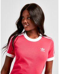 adidas Originals 3-stripes California T-shirt - Pink