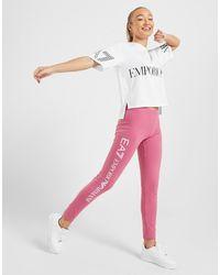 EA7 Logo Leggings - Pink