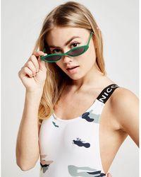 Nicce London Camo Swimsuit - White