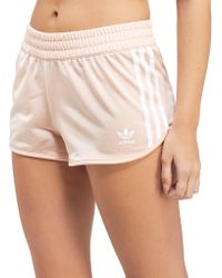 adidas Originals - 3-stripe Poly Shorts - Lyst