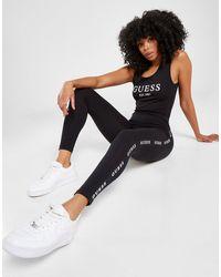 Guess Tape Logo Leggings - Black