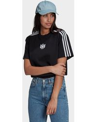 adidas Originals Adicolor 3d Trefoil Loose T-shirt - Black