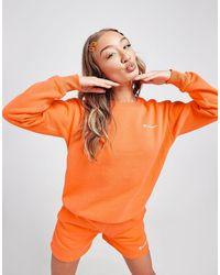 Champion Sweatshirt Logo Crew - Orange