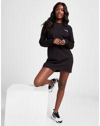 Ellesse Core Logo Long Sleeve T-shirt Dress - Black