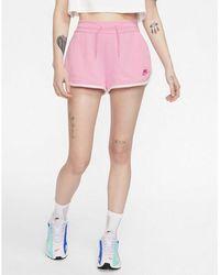 Nike Sportswear Heritage Fleece Shorts - Pink