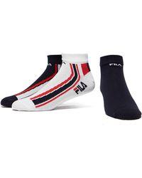 Fila - 3 Pack Quarter Sport Socks - Lyst