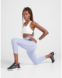 Nike Training Yoga Luxe Infinalon Ribbed Tights - Blue