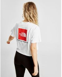 2afc67f8f Lyst - The North Face Box Logo Boyfriend T-shirt in White