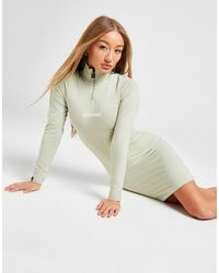 Ellesse 1/4 Zip Bodycon Dress - Green