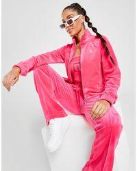 Juicy Couture Diamante Velour Full Zip Track Top - Pink