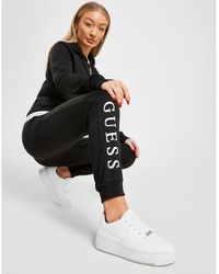 Guess Logo Sweatpants - Black