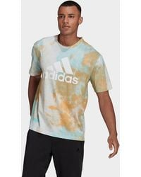 adidas Essentials Tie-dyed Inspirational T-shirt - Multicolor