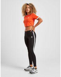 Gym King Stripe Panel Leggings Donna - Nero