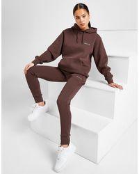 Nicce London Logo Fleece Sweatpants - Brown