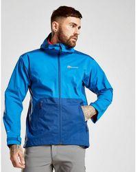 Berghaus Deluge Pro Lightweight Waterproof Shell Jacket - Blue