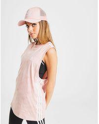 adidas Originals 3-stripes Monogram Tank Top - Pink