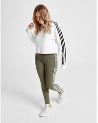 new release detailing best sell adidas Originals 3-stripes Leggings in Blue - Lyst