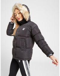 SIKSILK Fur Padded Jacket - Black