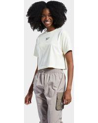 Reebok Classics Cloud-dye Cropped T-shirt - White