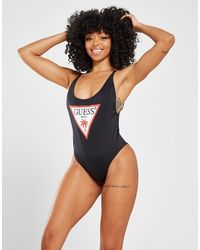 Guess Triangle Logo Swimsuit - Black