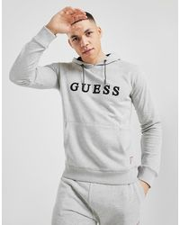 Guess Sudadera con capucha Embroidered Logo - Gris