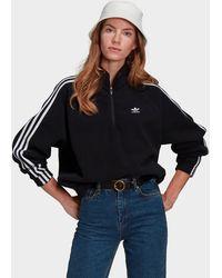 adidas Originals Adicolor Classics Polar Fleece Half-zip Sweatshirt - Black
