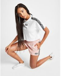adidas Originals Tape Poly Shorts - White