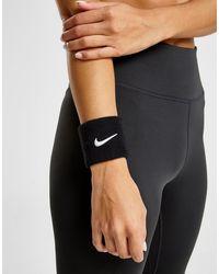 Nike 2 Pack Swoosh Wristband - Black