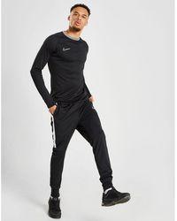 Nike Academy Colour Block Collar Long Sleeve T-shirt - Black