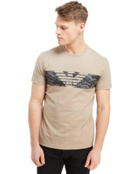 EA7 - Central Eagle Logo T-shirt - Lyst