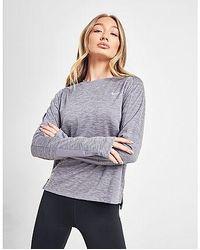 Nike Running Pacer Crew Langarmshirt Damen - Grau