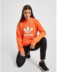 adidas Originals Trefoil Overhead Boyfriend Hoodie - Orange